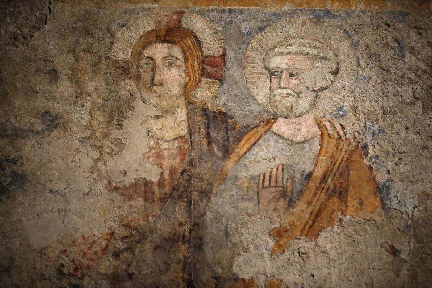 Affreschi risalenti all'epoca di cristianizzazione del Carcer