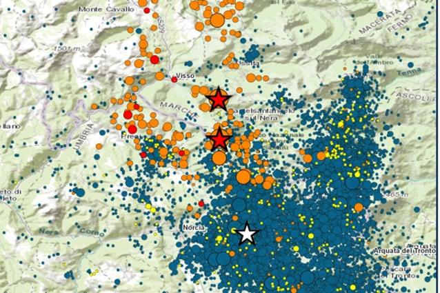 Rilevamento dell'Ingv del terremoto del 26 ottobre 2016