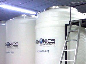 I container del Cryonics Institute dove è conservato il corpo della 14enne inglese