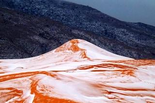 Sahara, nevicata record copre il deserto: le immagini sono sorprendenti