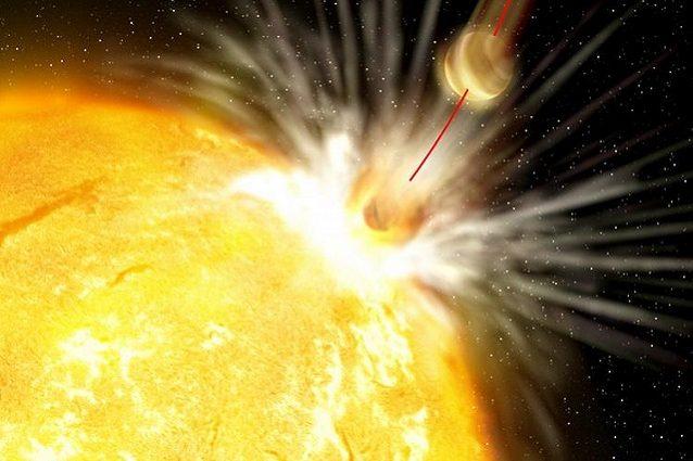 La stella killer divora un pianeta. credit: uchicago - illustrazione di Gabi Perez / Instituto de Astrofísica de Canarias