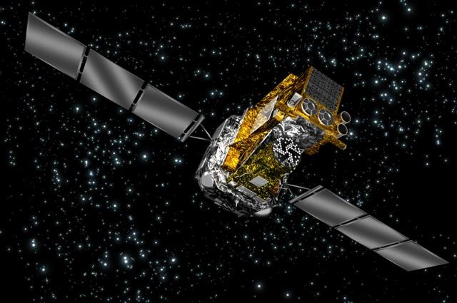 Illustrazione del satellite Integral, lanciato in orbita per lo studio dei buchi neri - Immagine di ESA
