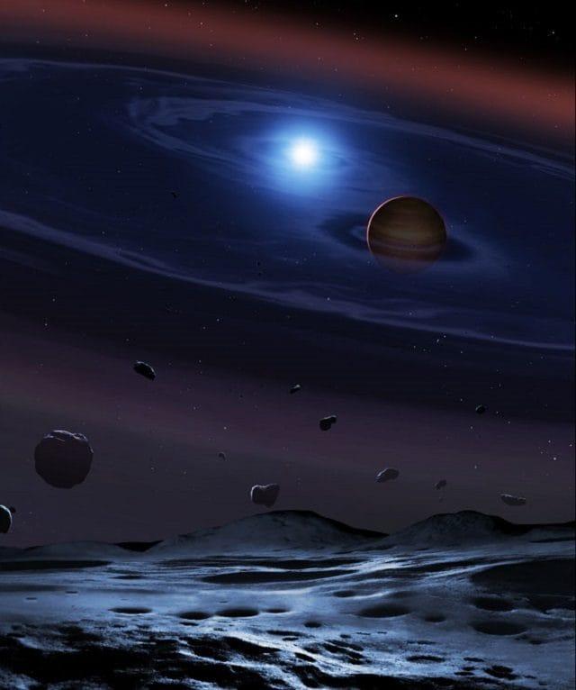 Illustrazione del sistema binario SDSS 1557