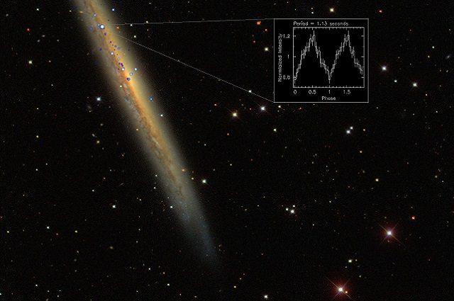 L'origine della potentissima emissione a raggi-X nella galassia NGC 5907: Immagine ESA