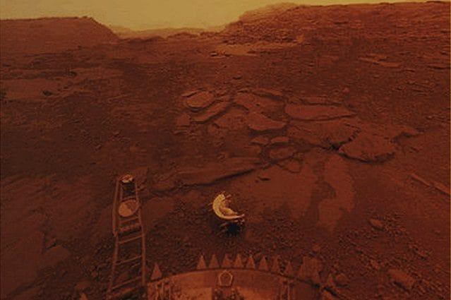 La superficie di Venere: credit Agenzia spaziale russa