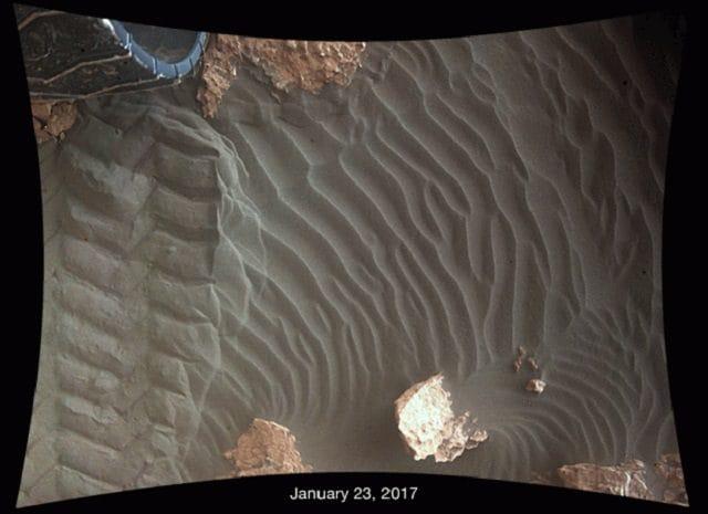 Le dune di sabbia sulla superficie di Marte