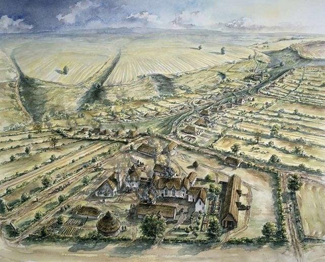 La ricostruzione del villaggio di Wharram Percy