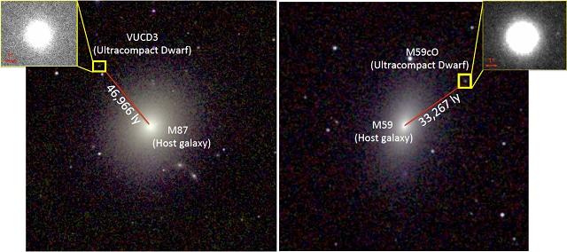 Le due galassie nane dove sono stati individuati i buchi neri: credit NASA