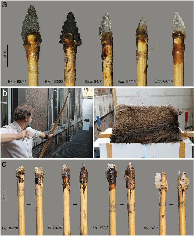 I proiettili sperimentali per il confronto con quelli recuperati nella cava in Sudafrica