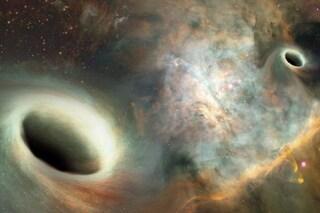 Due buchi neri 'danzano' in coppia: osservati per la prima volta nel cuore di una galassia