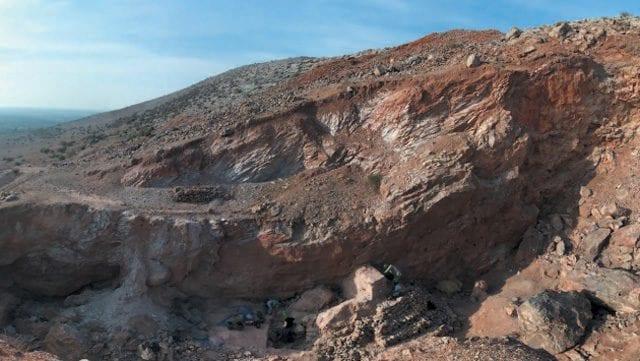 La cava in cui sono stati ritrovati i reperti: credit Shannon McPherron, MPI EVA Leipzig