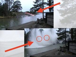 Cosa succede se un fulmine cade nel fiume? Il video shock è solo fuffa