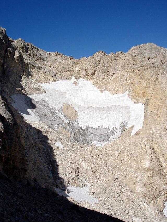 Il ghiacciaio del Calderone nel 2007: credit Banana Muffin