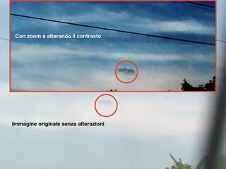 Ufo occultato dietro le nuvole grazie al complotto del contrasto video
