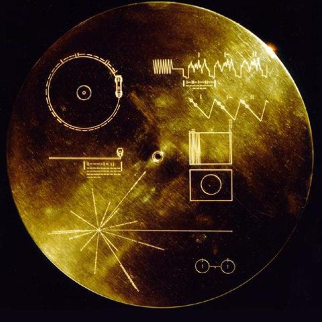 La custodia dei dischi d'oro inseriti nelle due sonde Voyager