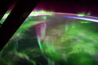 Nespoli ci svela l'aurora boreale dallo spazio: le immagini dalla Stazione Spaziale