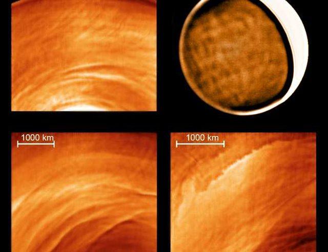 Onde di gravità rilevate su Venere: credits ESA, NASA, J. Peralta e R. Hueso