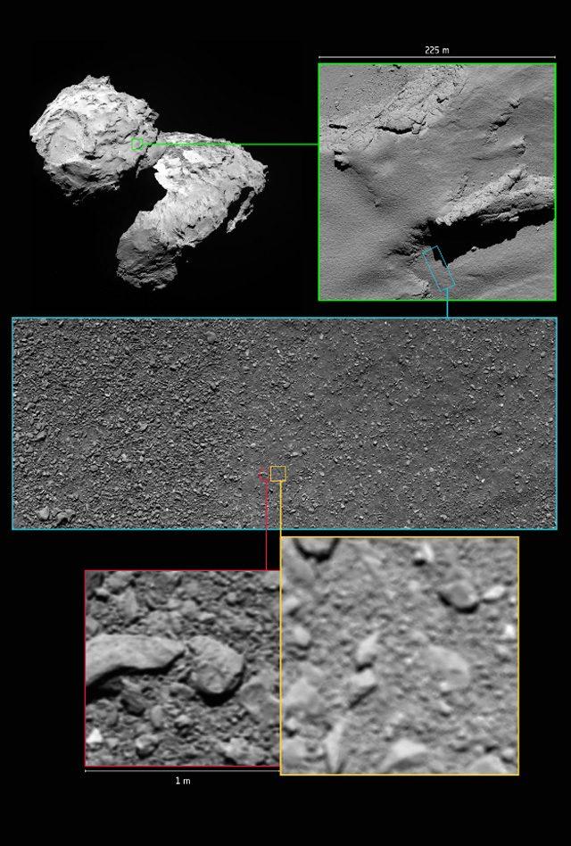 Le ultime immagini di Rosetta: Credit ESA / Rosetta / MPS per OSIRIS Team MPS / UPD / LAM / IAA / SSO / INTA / UPM / DASP / IDA