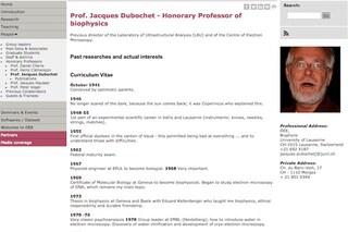 L'esilarante CV del Nobel per la Chimica 2017 Dubochet: genitori ottimisti e paura del buio