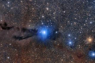 """Nuove stelle nascono nel cuore di un """"serpente"""" oscuro: l'immagine mozzafiato di Lupus 3"""