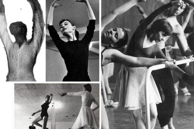 """Prima foto in alto a sinistra: il """"fantasma"""" a confronto con una tipica posa da ballo. Le altre foto mostrano corrispondenze con abbigliamento e collana indossati negli anni '70 dalla istruttrice di danza Maria Vegh. Credit: MetaBunk."""