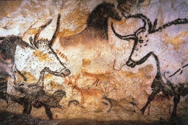 Pittura rupestre dei primi uomini moderni. Credit: Prof saxx