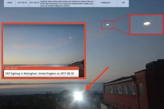 Anche il caso dell'Ufo di Nottingham si avvale di un vetro. Ma non si tratta di alieni vetrai.