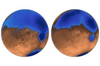 Acqua su Marte, gli antichi oceani nati grazie a enormi eruzioni vulcaniche