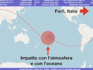 In Italia un frammento infuocato dalla stazione spaziale? La notizia è infondata