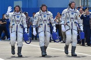 Tre nuovi astronauti nello spazio: riuscito il lancio della Soyuz MS-09 con il logo FIFA 2018