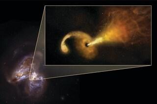 Morte 'in diretta' di una stella, fatta a pezzi da un buco nero