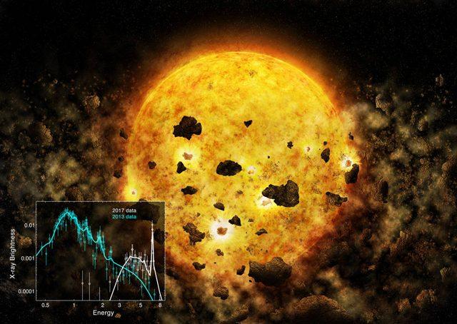 Credit: NASA/CXC/M. Weiss; X–ray spectrum: NASA/CXC/MIT/H. M.Günther