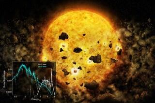 Per la prima volta osservata una giovane stella che divora pianeti in formazione