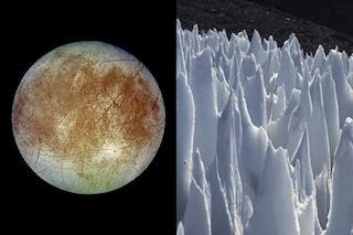 Lame di ghiaccio alte 15 metri su Europa, la luna di Giove: perché la NASA è preoccupata