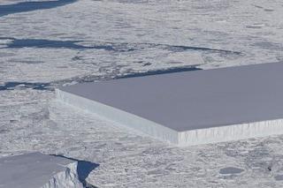 Assurdo iceberg geometricamente perfetto fotografato dalla NASA: cosa succede in Antartide