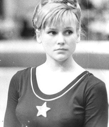 L'atleta russa Olga Olga Karasyova.