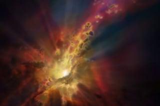 Nello spazio c'è una gigantesca fontana galattica alimentata da un buco nero