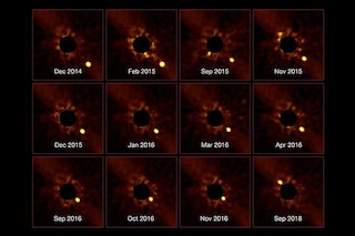 Le straordinarie immagini di un esopianeta che orbita a 63 anni luce dalla Terra