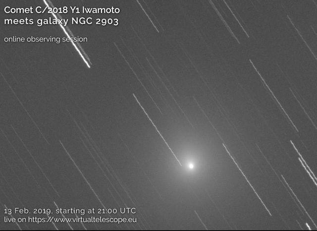 Cometa di Iwamoto. Credit: Gianluca Masi/Virtual Telescope Project