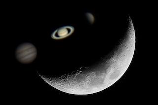 Meraviglioso allineamento astrale tra Venere, Saturno, Luna e Giove: quando e dove vederlo