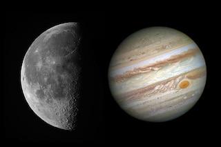 Giove e la Luna duettano nel cielo di aprile: quando vedere la magnifica danza celeste