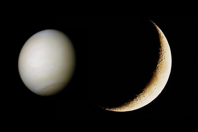 Credit: NASA (Venere) – Andrea Centini (Luna)