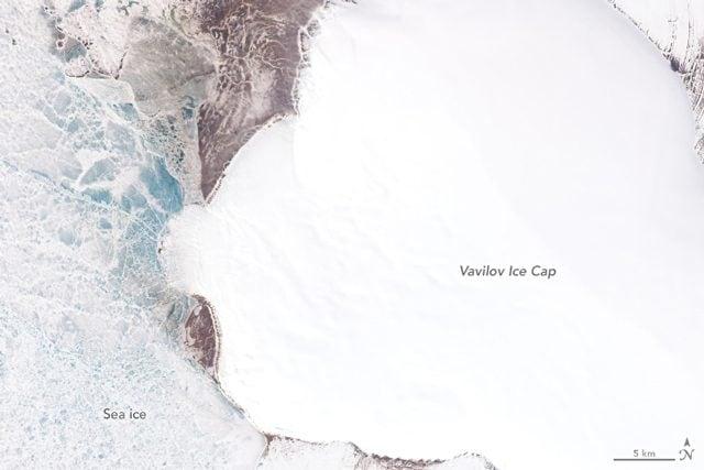 Il ghiacciaio nel 2013