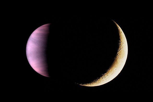 Credit: Venere – Hubble/Luna – Andrea Centini