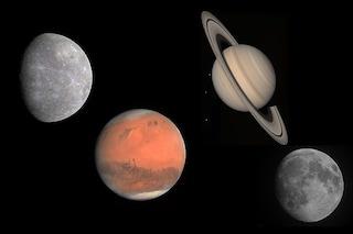 Tre pianeti e la Luna danzano nel cielo: quando vedere la magnifica doppia congiunzione astrale