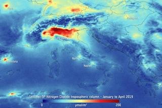 """Pianura Padana """"soffocata"""" dallo smog: immagine choc dell'Agenzia Spaziale Europea"""