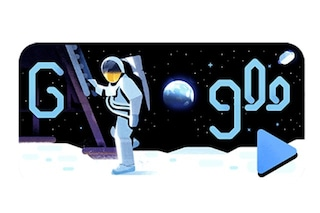 Missione spaziale Apollo 11: il Doodle di Google celebra lo sbarco sulla Luna