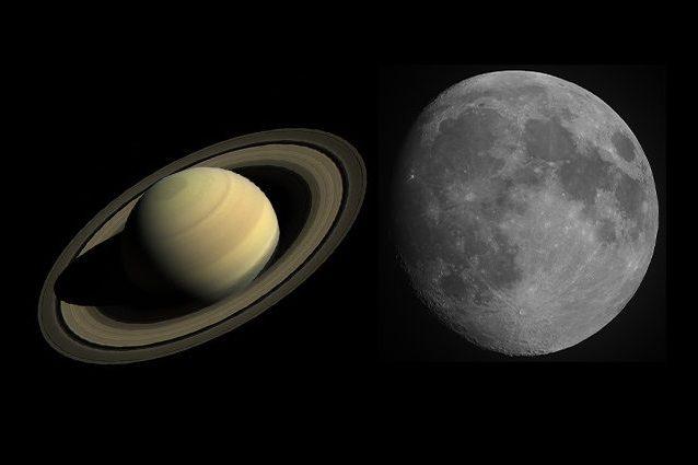 Credit: Saturno/NASA – Luna/Andrea Centini