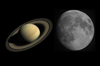 La Luna danza con Saturno, tutto pronto per lo splendido duetto: quando e come vederli