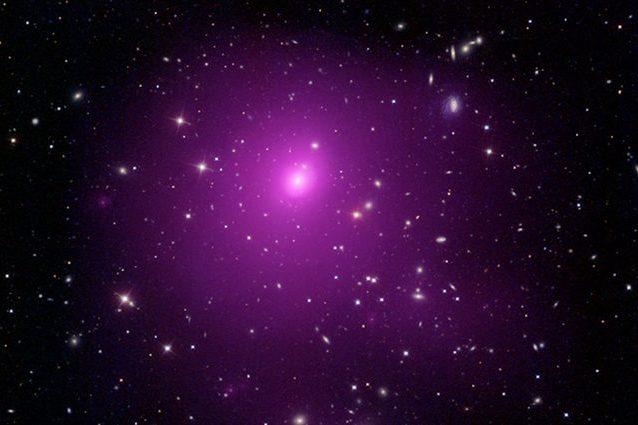 Il gruppo di galassie Abel 85 dove si trova il buco nero Credit: NASA